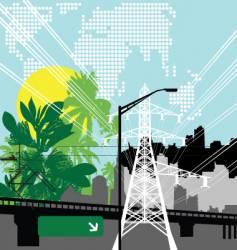 Jungle city vector