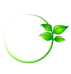 leaves environment frame vector image vector image