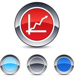 positive trend round button vector image vector image