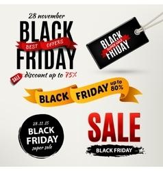 Black friday sale design elements vector image vector image