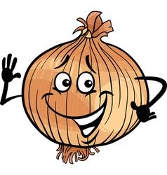 cute onion vegetable cartoon vector image vector image