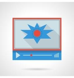 Flash video flat color design icon vector image