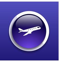 Airplane Plane symbol Travel icon Flight flat labe vector image