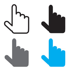 cursor icon flat design style cursor sign vector image vector image