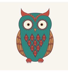 decorative cute owl vector image