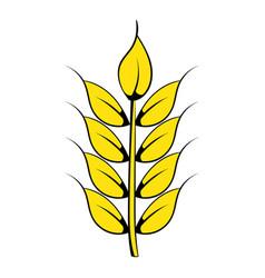 ear of barley icon cartoon vector image vector image