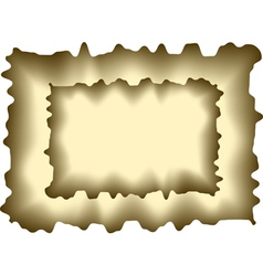 Abstract burnt paper vector
