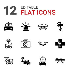 ambulance icons vector image