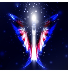 Angel futuristic background vector