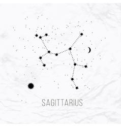 Astrology sign Sagittarius on white paper vector
