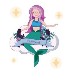 beautiful and magic mermaid vector image