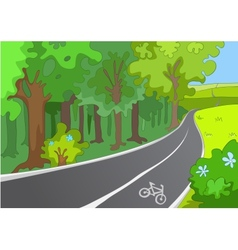 Bicycle Path vector