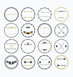 Black and golden hand drawn empty circle border vector