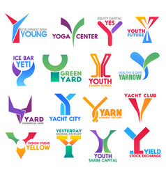 Business company corporate brand letter y design vector