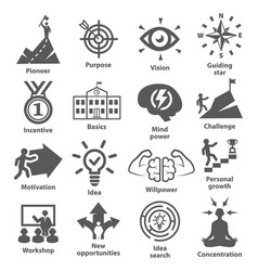 Business management icons pack 41 vector
