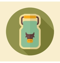 Can container for milk retro flat icon vector