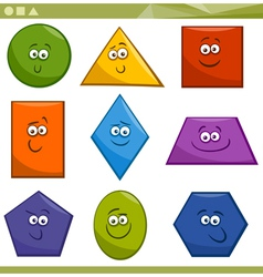 Cartoon Basic Geometric Shapes vector image