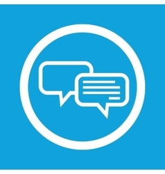 Chatting sign icon vector image