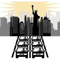 city concept vector image