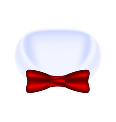 Collar of shirt and bow tie vector