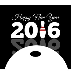 Congratulations to the happy new 2016 year with a vector