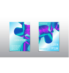 cover set abstract design liquid wave background vector image