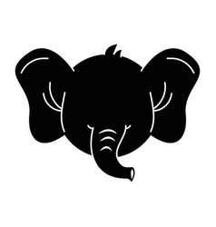 cute elephant character icon vector image