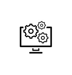 Data management icon flat design vector