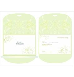Decorative wedding inwitation vector image