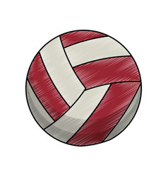Drawing volleyball ball equipment vector