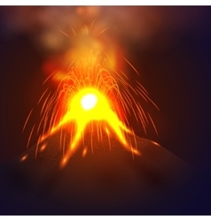 Eruption volcano vector image