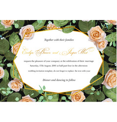 Floral greeting card wedding invitation vector