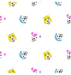 Funny dogs animal seamless pattern vector