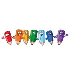 funny pencils vector image