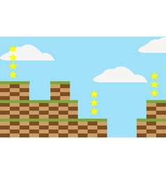 Game level background vector image