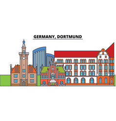 Germany dortmund city skyline architecture vector