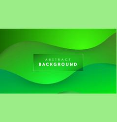 Gradient fluid green color background liquid vector
