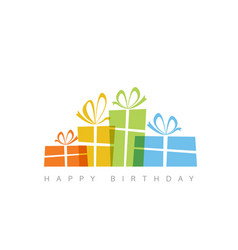 happy birthday with presents vector image