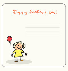 Happy father day family holiday daughter hold air vector