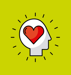 head heart vector image