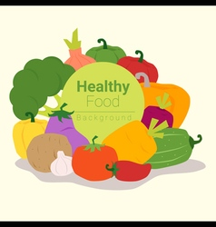 Healthy food background with vegetable 3 vector