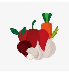 healthy food ingredients icons image vector image