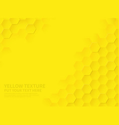 Hex texture yellow honeycomb geometric pattern vector
