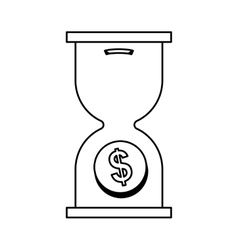 Hourglass icon Money and Financial item design vector