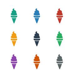 Ice cream icon white background vector