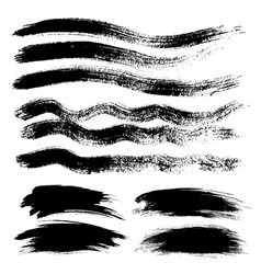 ink grunge stains brush set vector image