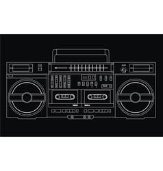 isolated ghetto blaster vector image