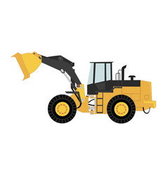 Isolated wheel loader vector