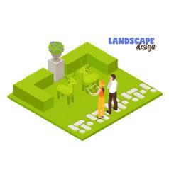 Landscape design concept vector