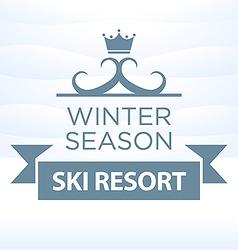logotype winter season ski resort on snow vector image